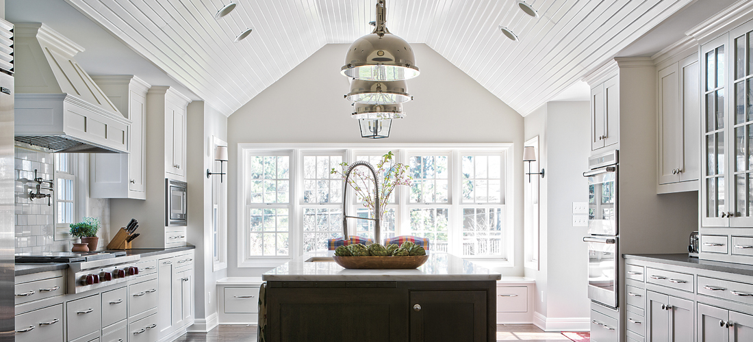White Transitional Kitchen Remodel by Scovell Wolfe