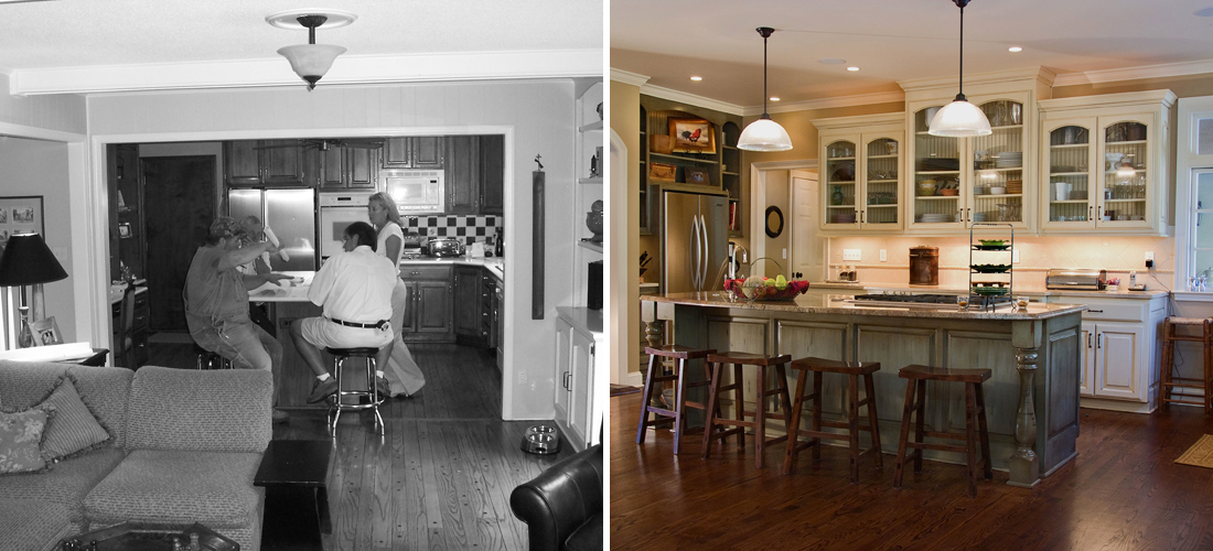 before and after of a mission hills kitchen