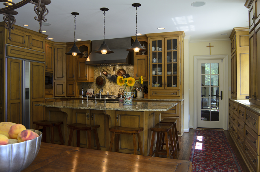 Good Kitchen Remodeling Kansas City Mo #7: Kitchen,granite Countertops,pendant Lights,bar Stools,eat-in Kitchen,