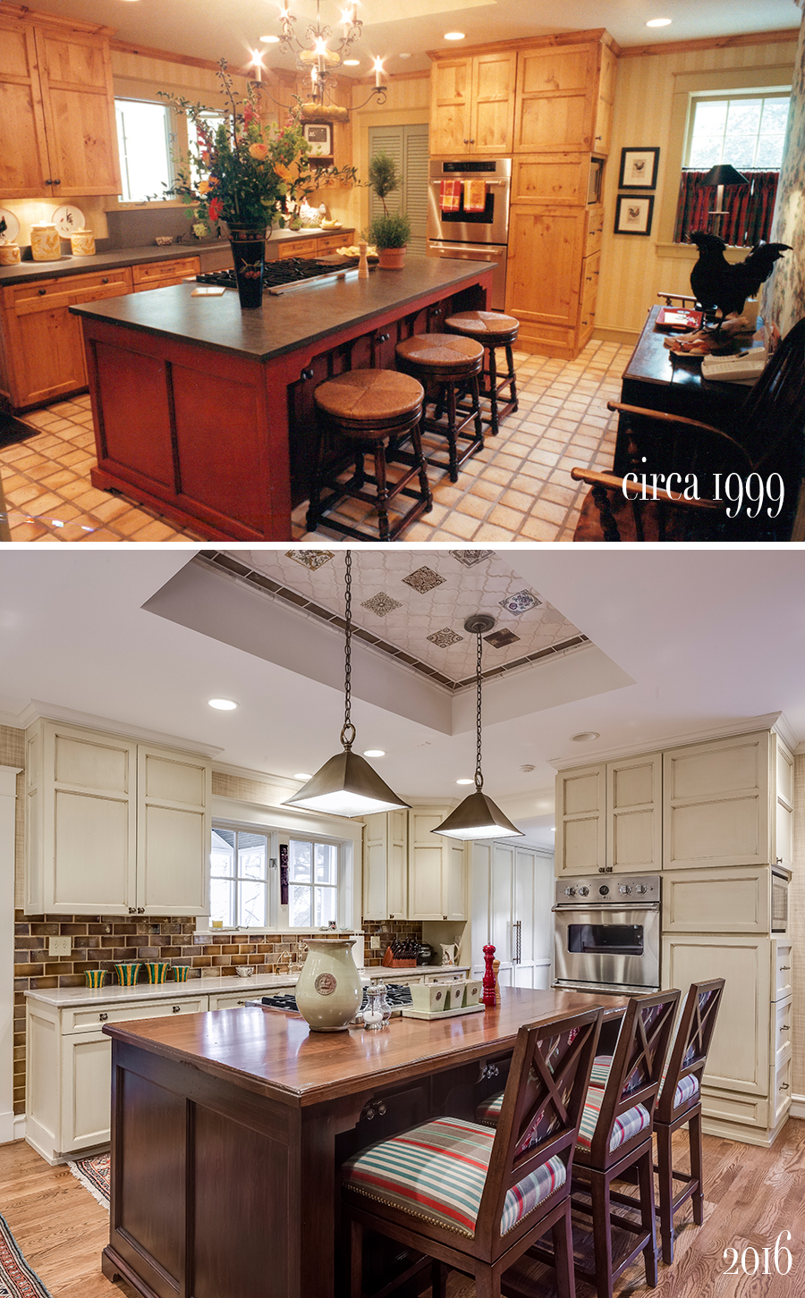 kitchen before and after both remodeled by scovell wolfe designed by nancy ruzicka