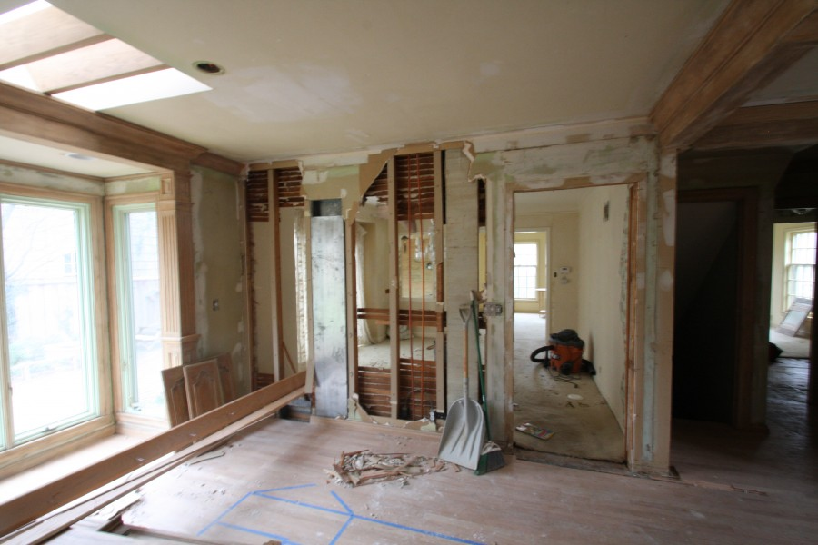 scovell wolfe remodel progress on kitchen in old sagamore
