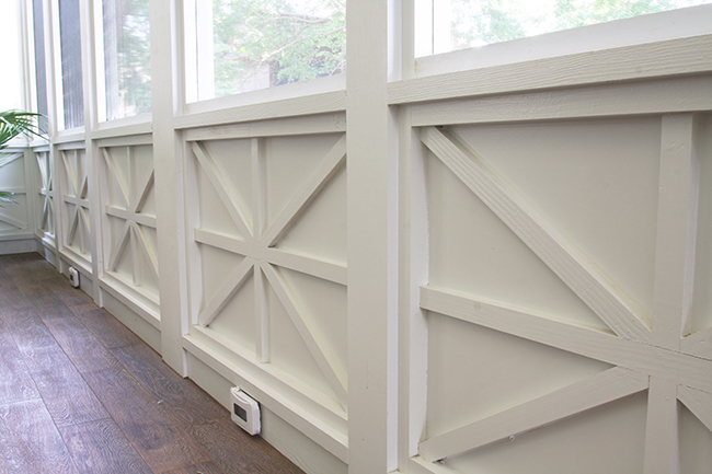 starburst wainscoting in scovell wolfe remodeling addition