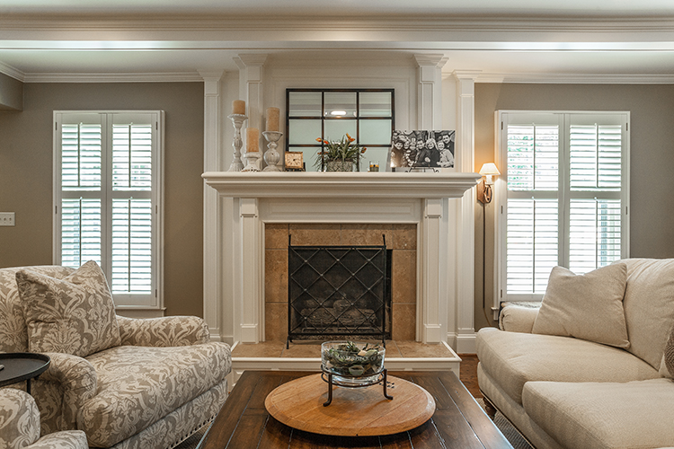 fireplace and custom mantle by scovell wolfe