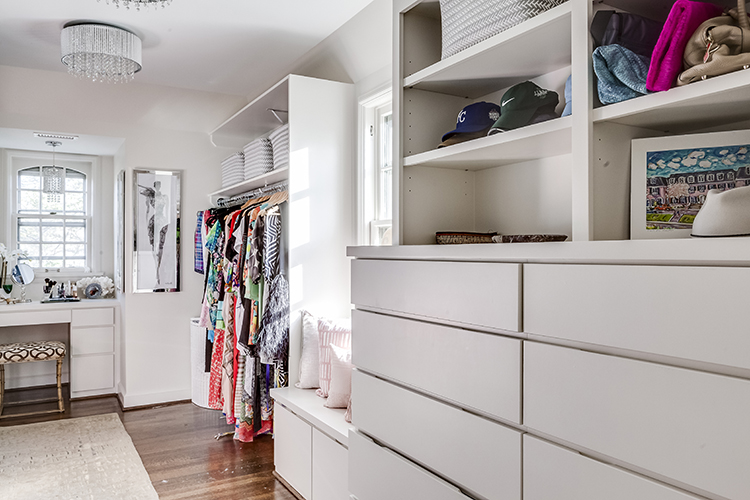 custom master closet walk-in designed by scovell wolfe