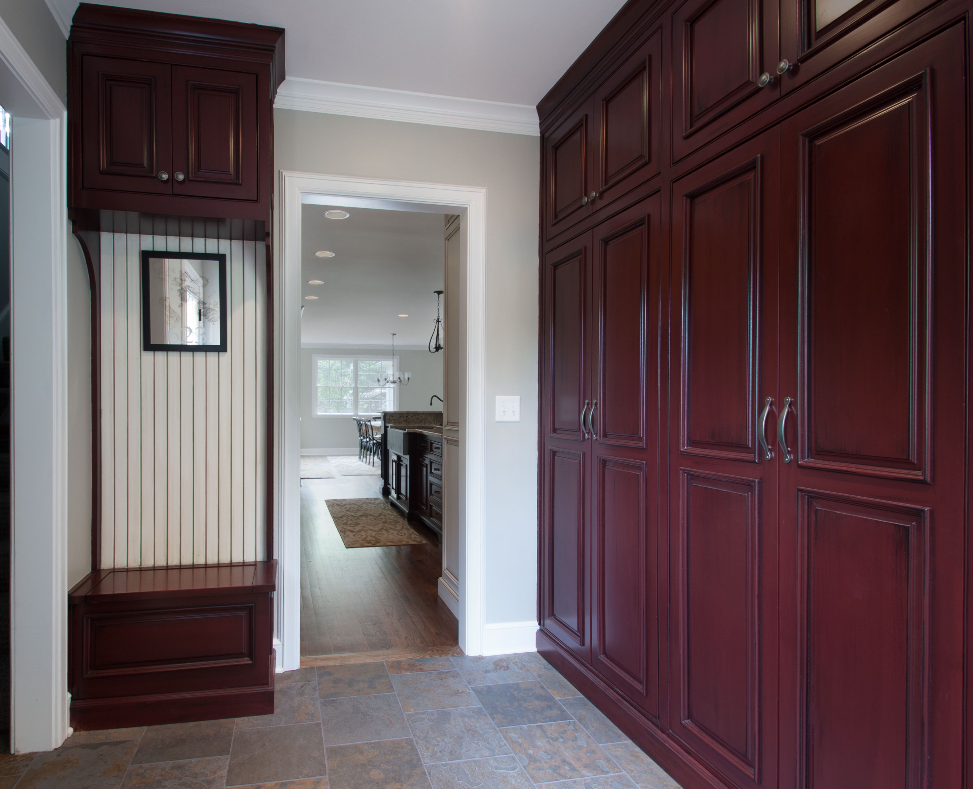 mudroom custom cabinetry
