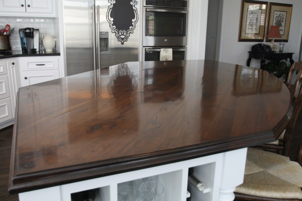 elmwood reclaimed timber walnut island countertop