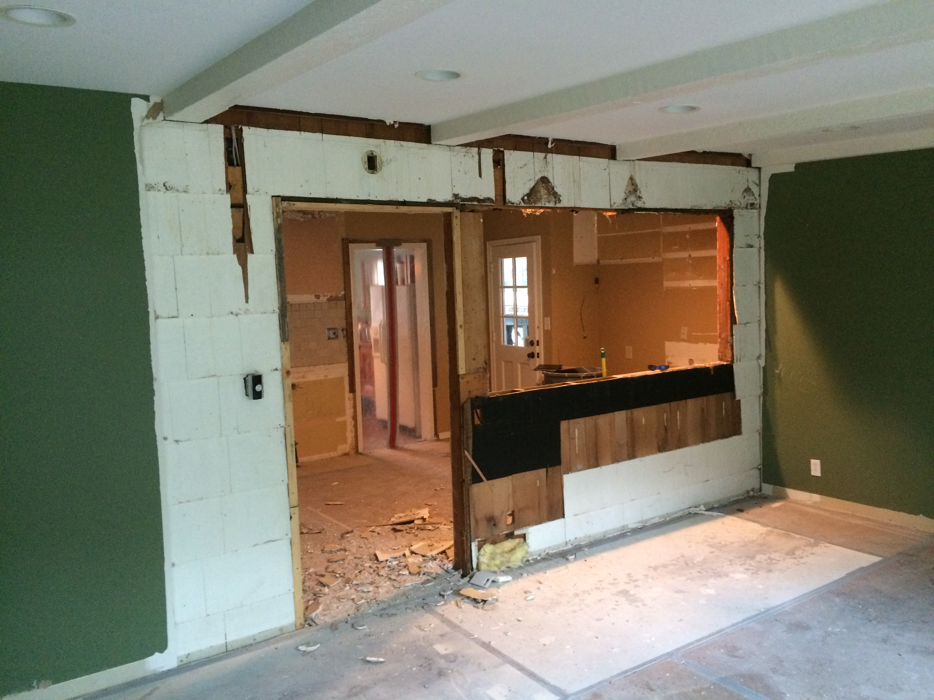 demolition of the kitchen post