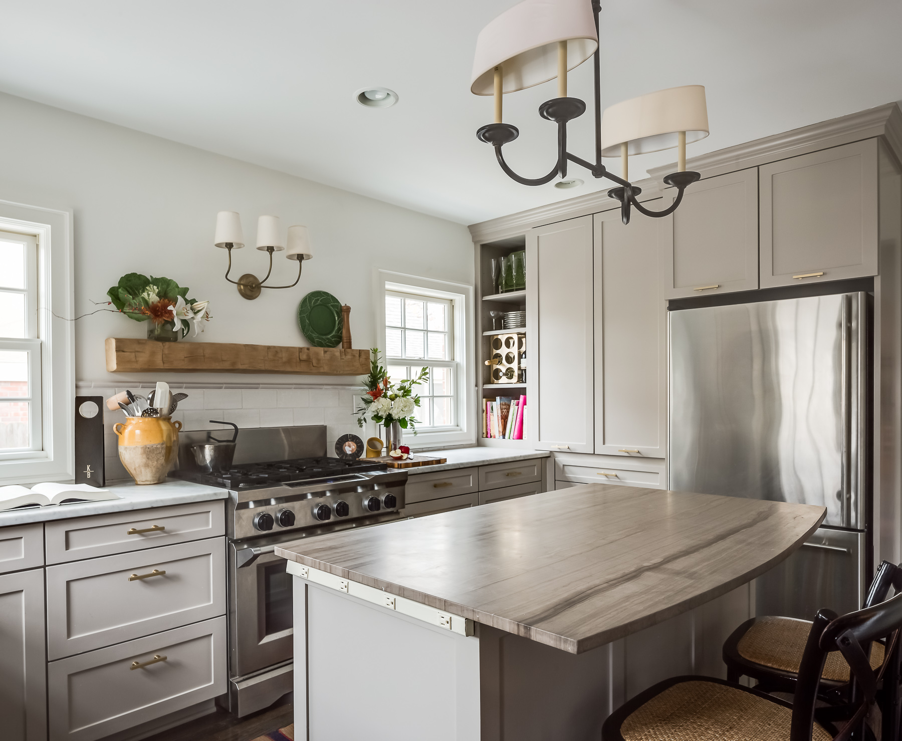 after picture of scovell wolfe remodeled brookside kitchen