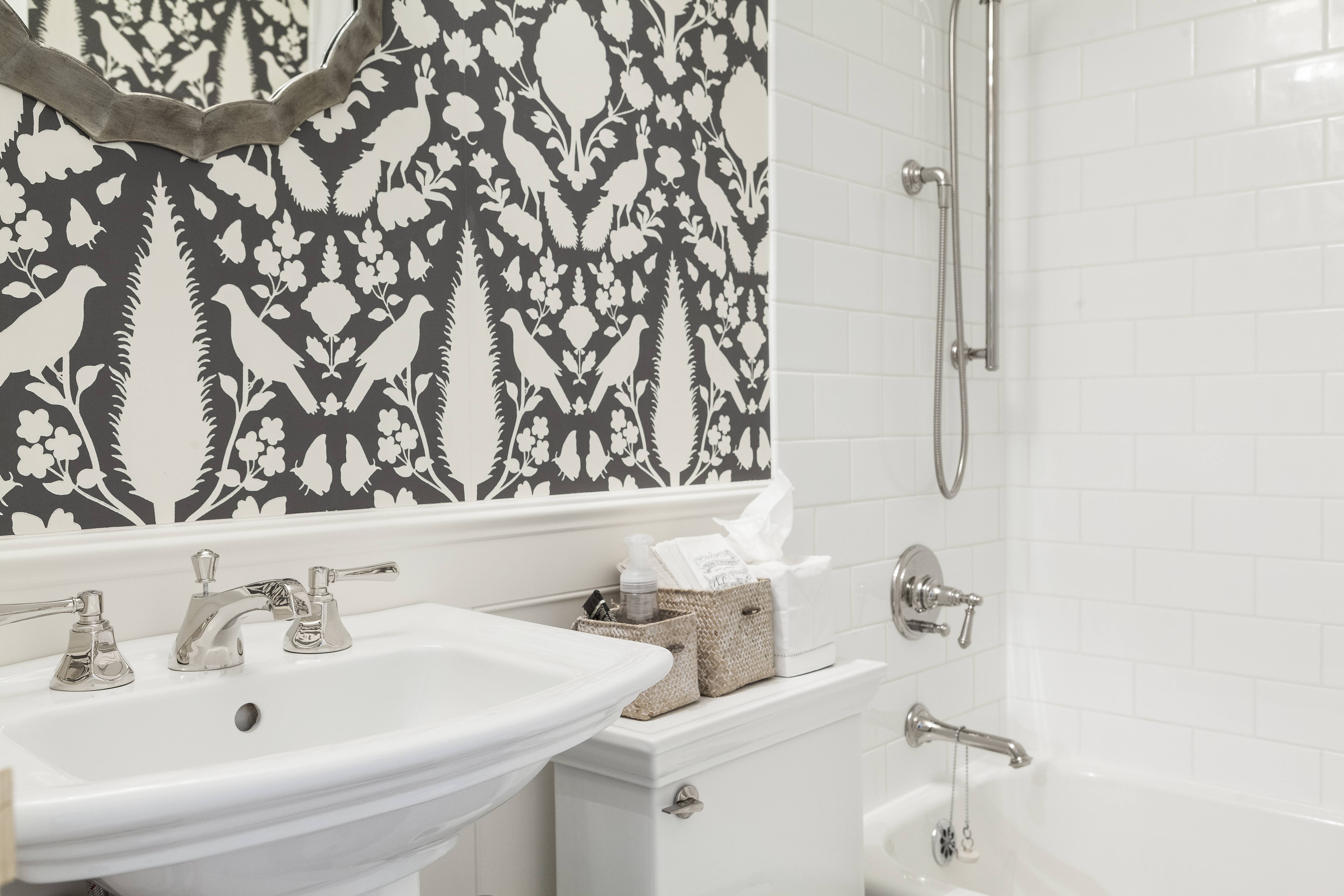 powder bathroom in old sagamore scovell wolfe remodel