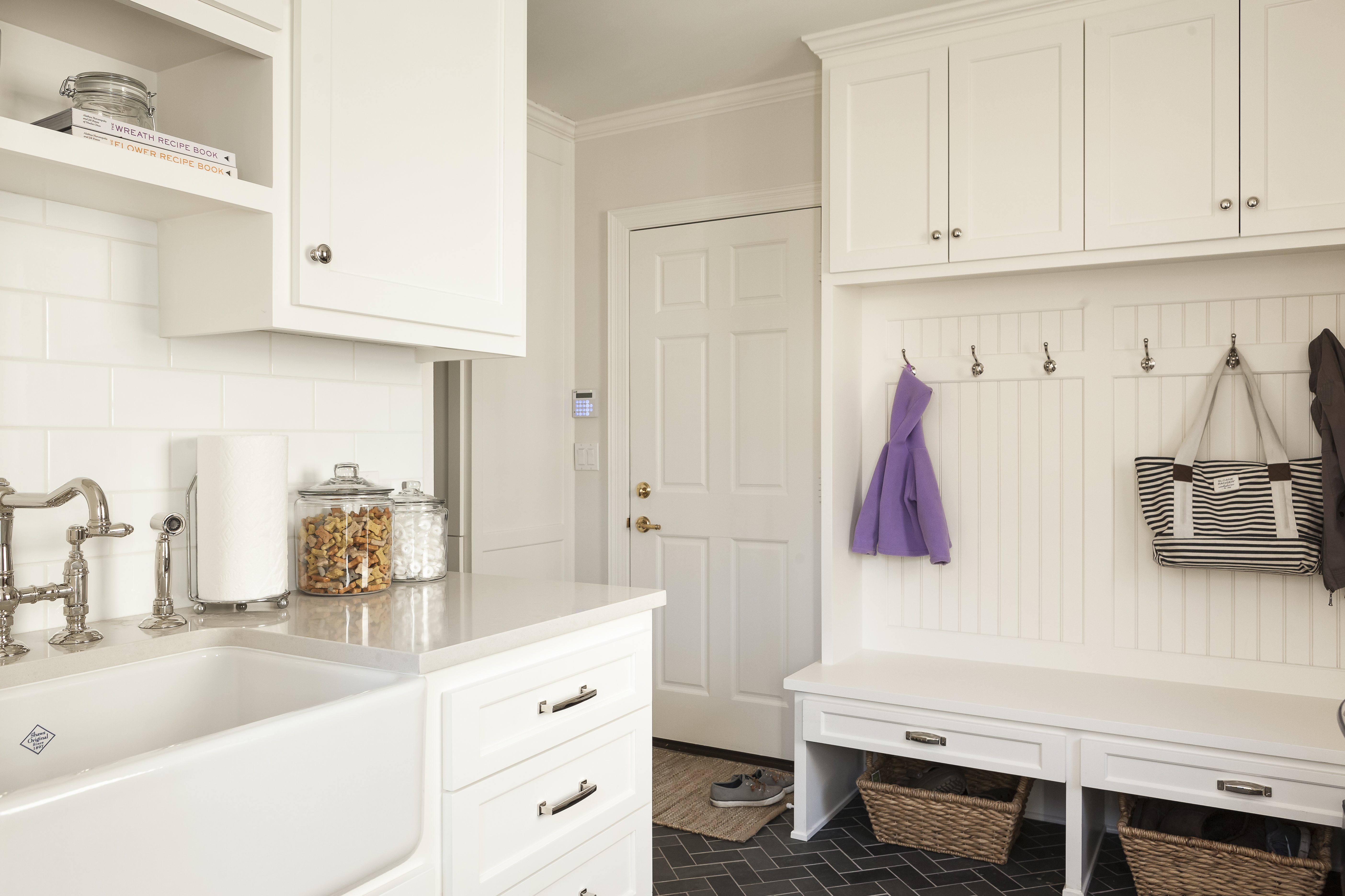 after scovell wolfe remodeled mudroom with laundry