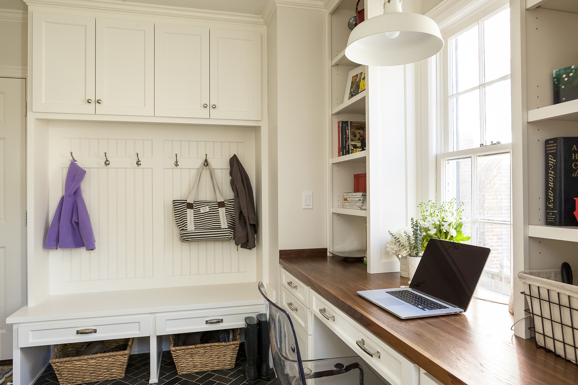scovell wolfe remodeled mudroom