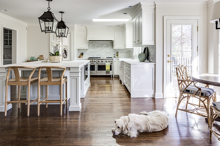after kitchen remodel by scovell wolfe in mission hills
