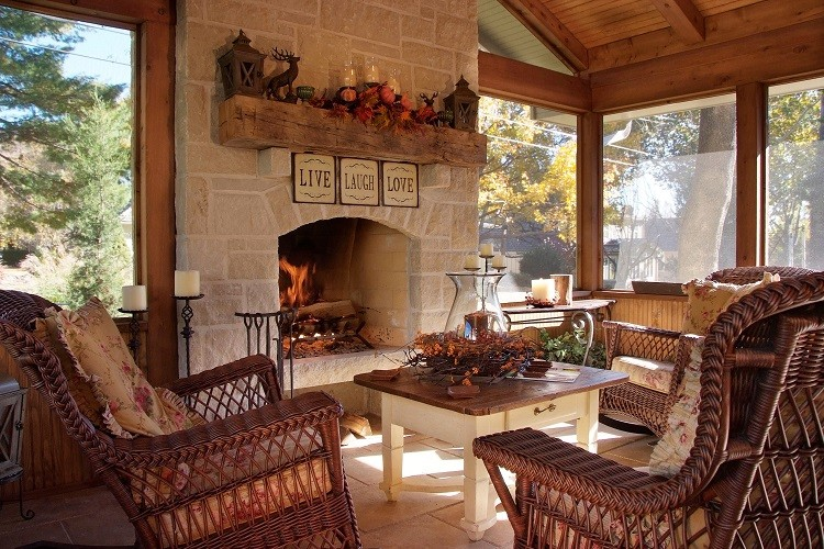 country screened porch