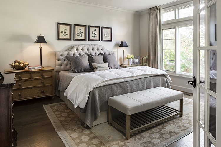 corinth townhome master bedroom by scovell wolfe and bonnie taylor