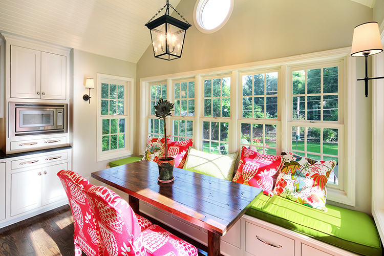 scovell wolfe remodeled reinhardt kitchen with built in window seating