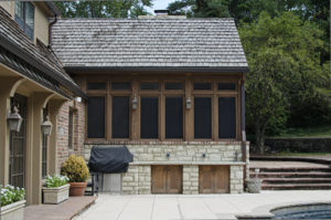 Screened in porch addition in Kansas City by Scovell Wolfe remodeling