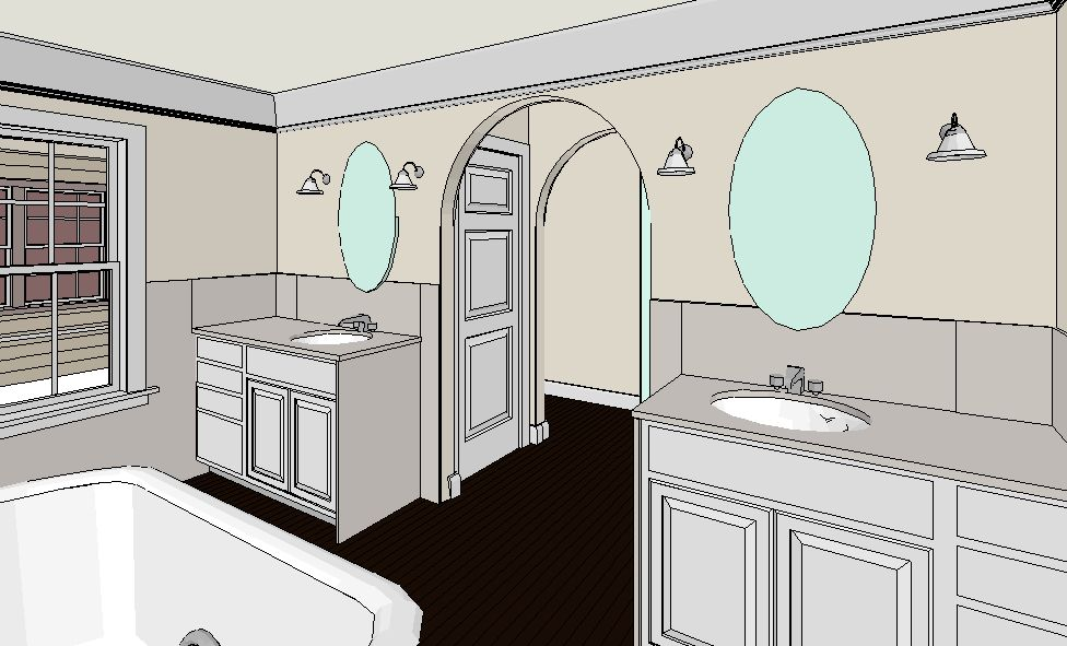 Scovell Wolfe's design sketch of new bathroom