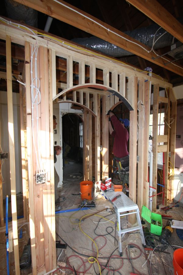 framing archways and barrel vault ceiling