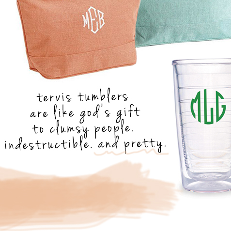 mother's day gift guide including totes and tervis tumblers
