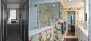 master bathroom before and after with new configuration