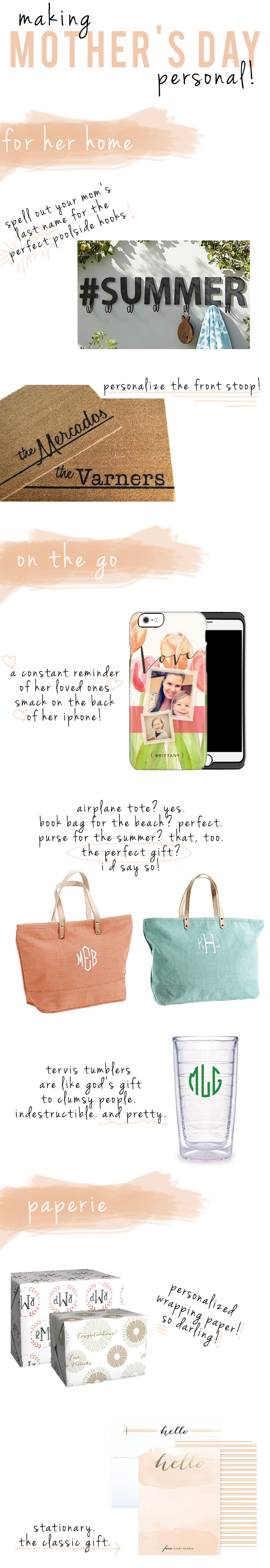 mother's day 2015 personalized gift guide