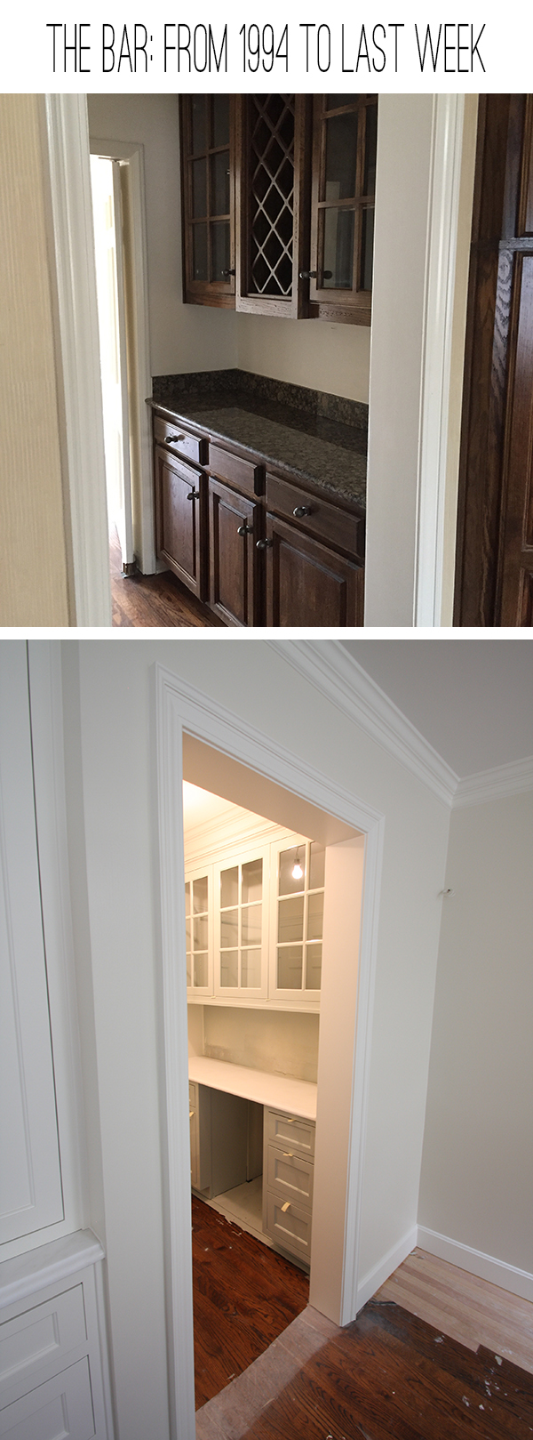 hallway before before and after