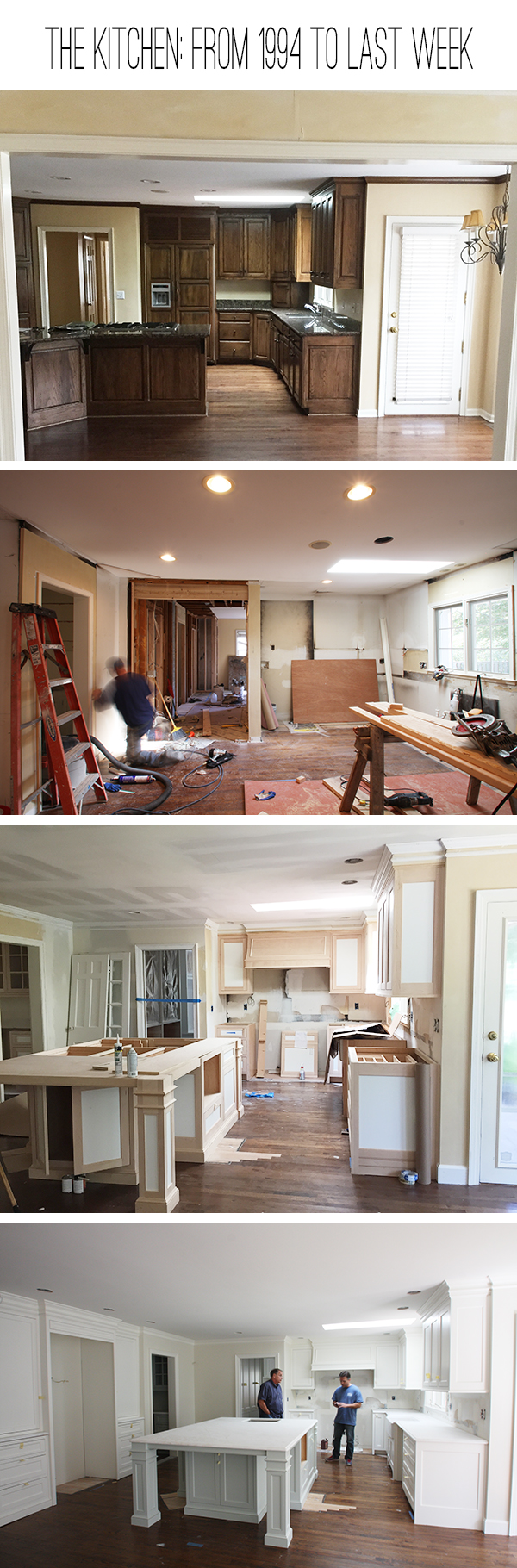 4 stages of the kitchen remodel