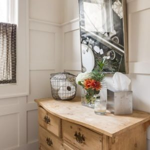 scovell wolfe powder bath with wainscoting