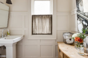 brookside powder bath remodel by scovell wolfe with true wainscoting