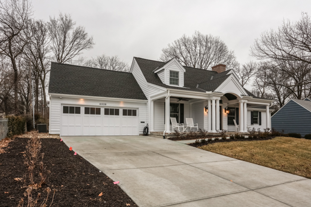 exterior photograph of a new build in prairie village kansas