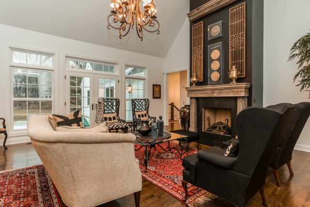 scovell wolfe built living room in prairie village