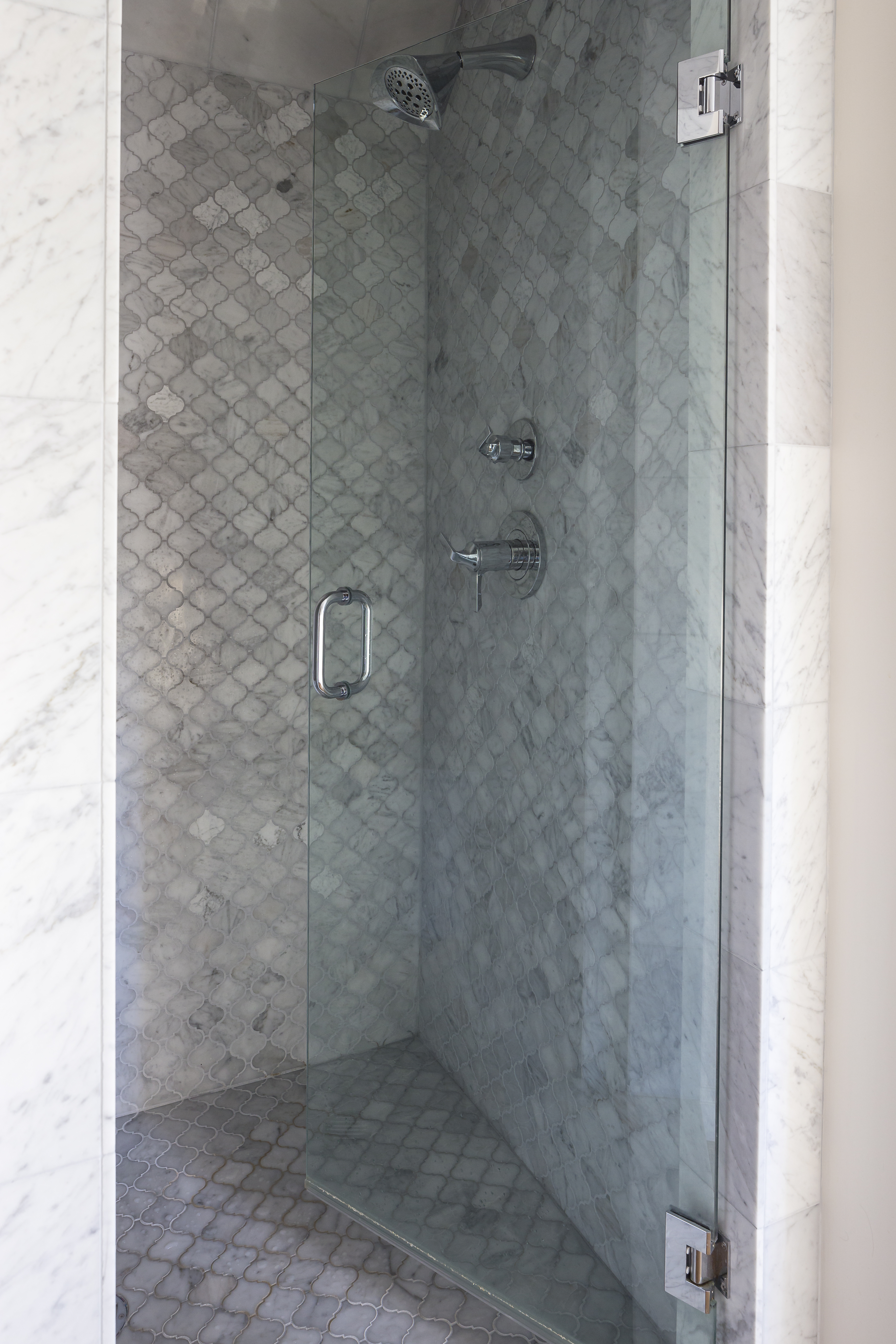 scovell wolfe remodeled walk in  master shower