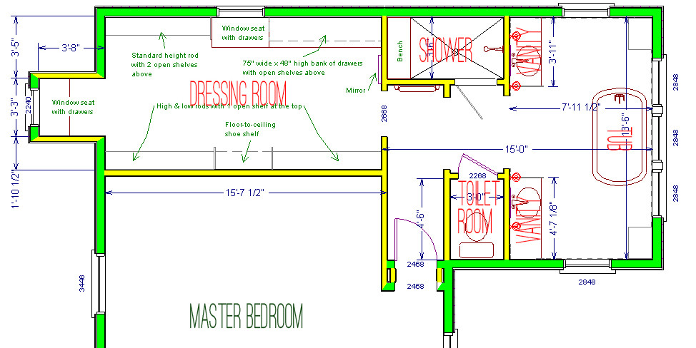 scovell wolfe's proposed new master suite plan
