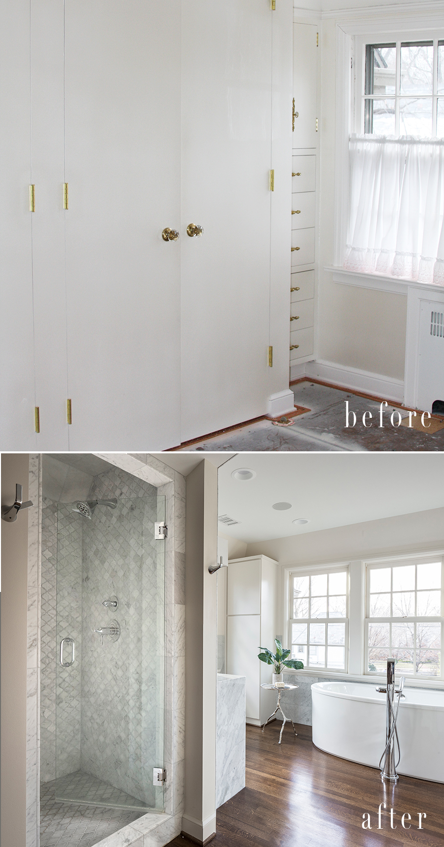 shower before after