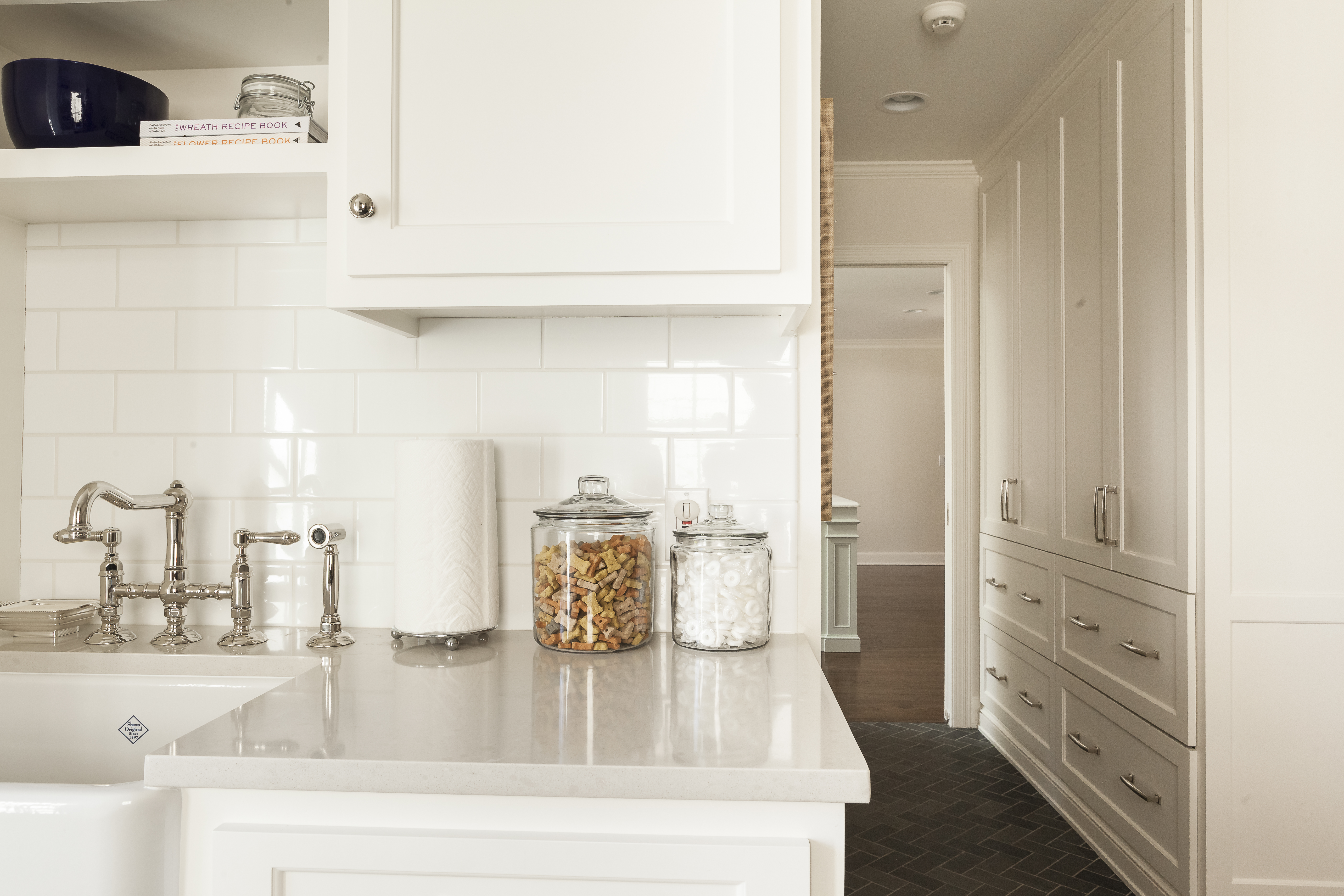 laundry room with view to kitchen after scovell wolfe remodel
