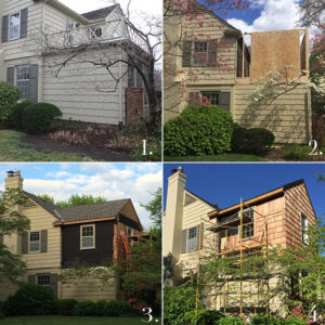 four stages of the room addition in mission hills by scovell wolfe