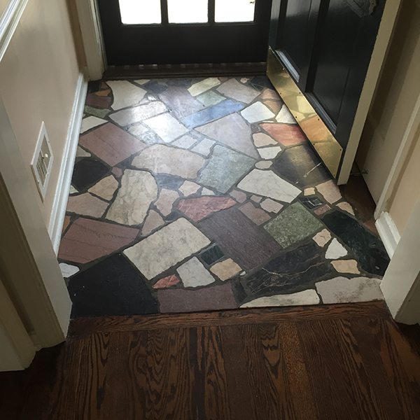 before foyer tile in mission hills remodel by scovell wolfe