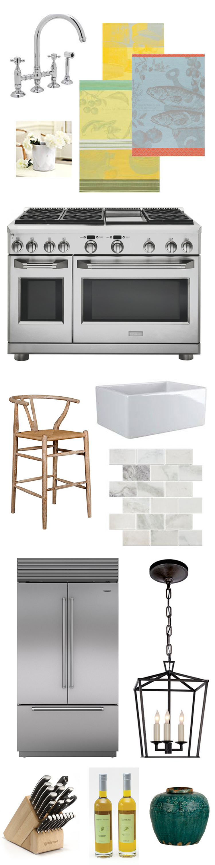 mood board for scovell wolfe kitchen remodel