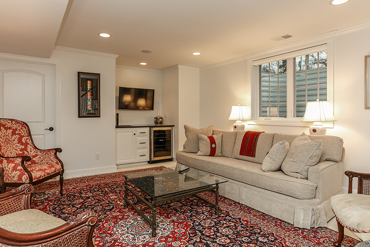 finished basement lower level by scovell wolfe