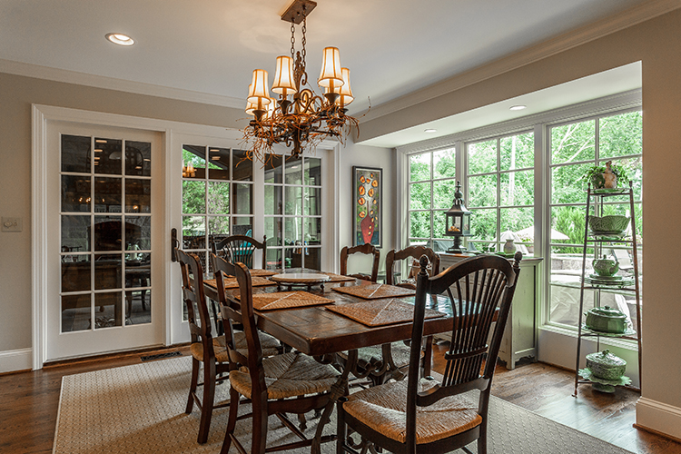 breakfast room off of kitchen by scovell wolfe