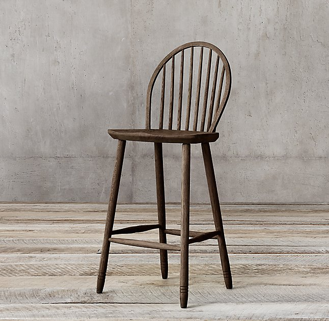 rh windsor bar stool