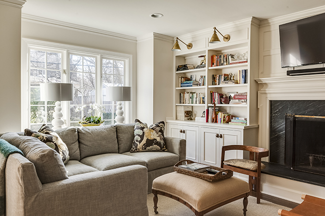 window and bookshelves scovell wolfe