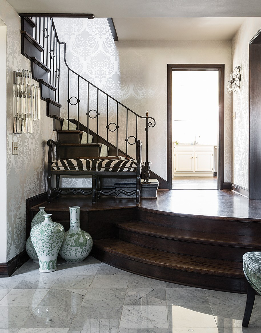 scovell wolfe remodeled marble entryway
