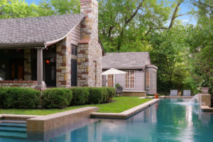 screened porch and lap pool
