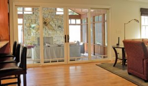 sliding doors to screened porch