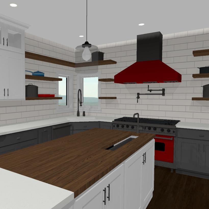 kitchen rendering for professional chefs