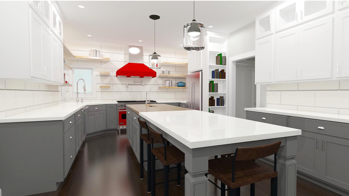 kitchen scovell wolfe design rendering