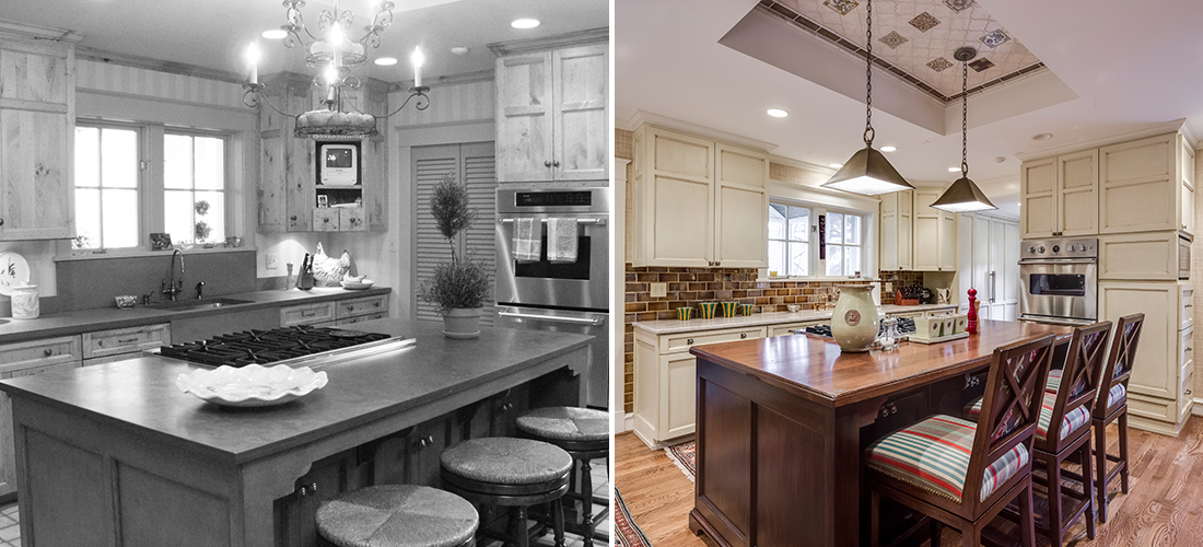 sunset hills kitchen before and after