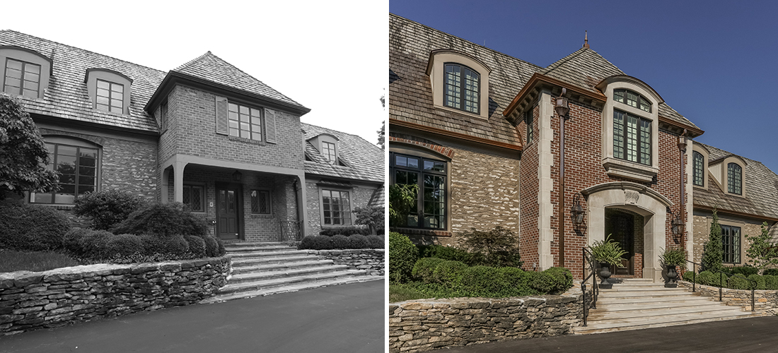 new stone and brick facade old mission hills before and after
