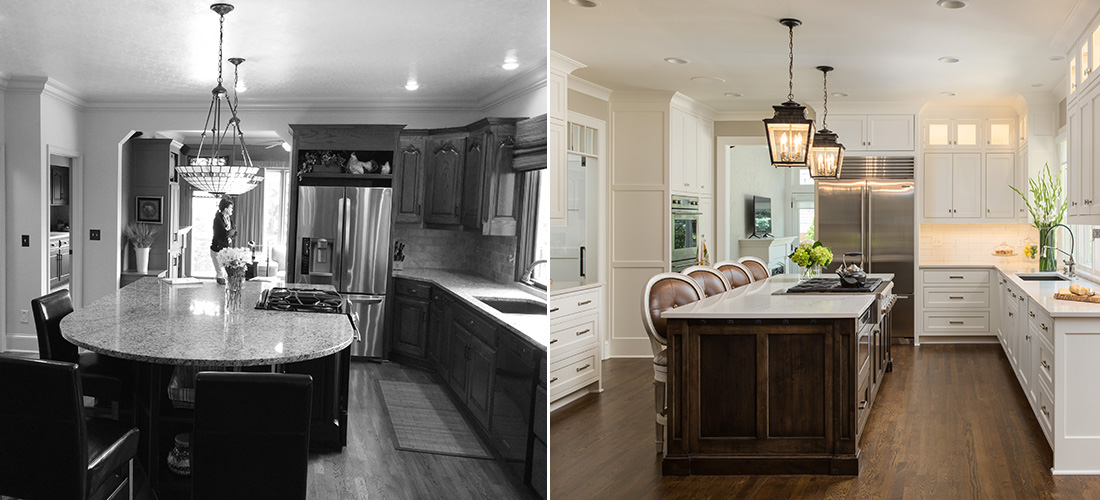 hallbrook kitchen makeover before and after by scovell wolfe